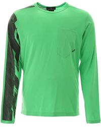 Stone Island Shadow Project Printed Long Sleeved T-shirt - Green