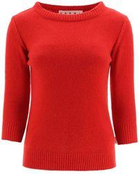 Marni Cashmere Sweater - Red