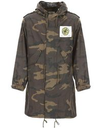 Kent & Curwen The Stone Roses Camouflage Parka - Green