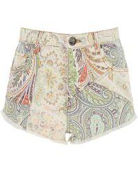 Etro Ibiza Denim Shorts - Multicolour