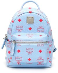MCM Visetos Stark Backpack - Blue
