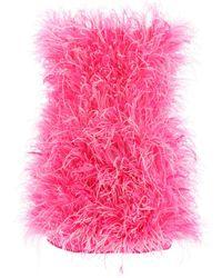 The Attico Feather Mini Dress - Pink