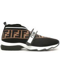 Fendi Rockoko Ff Sneakers - Black