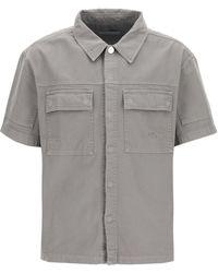 A_COLD_WALL* Short Sleeve Denim Shirt S Cotton,denim - Grey