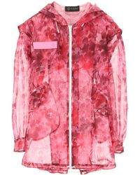 Mr & Mrs Italy Camouflage Organza Parka - Pink