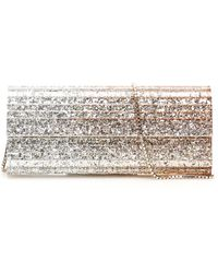Jimmy Choo CLUTCH TRIPLE DEGRADE GLITTER ACRYLIC SWEETIE - Metallizzato