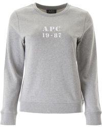 A.P.C. 19-87 Sweatshirt Xs Cotton - Gray