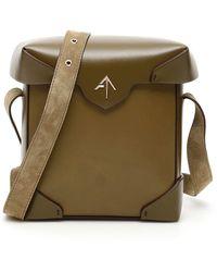 MANU Atelier Pristine Mini Leather Shoulder Bag - Green