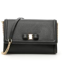 Ferragamo Grain Calfskin Vara Minibag - Black