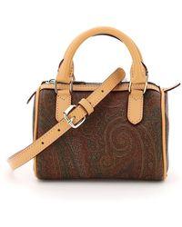 Etro Book Paisley Mini Bag - Brown