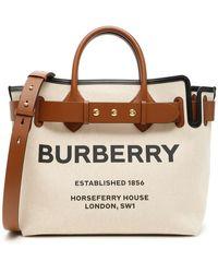 Burberry The Medium Cotton Canvas Triple Stud Belt Bag - Brown