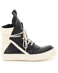 Rick Owens Geobasket Sneakers - Black