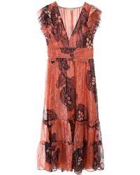 Ulla Johnson Akira Silk Dress - Red