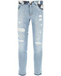 Dolce & Gabbana Dolce & Gabbana Jeans With Majolica Inserts - Blue