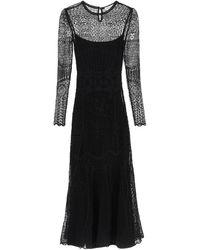 Alexander McQueen - Long Lace Dress - Lyst