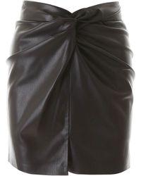 Nanushka Vegan Leather Mini Skirt - Black