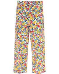 Marni Over Trousers With Pop Garden Print - Multicolour