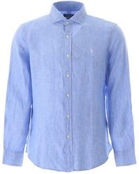 Polo Ralph Lauren Chambray Linen Shirt - Blue