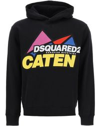 DSquared² Canadian Mountains Hoodie M Cotton - Black