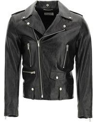 Saint Laurent Leather Biker Jacket - Black