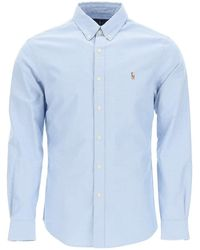 Polo Ralph Lauren Oxford Shirt Embroidered Pony - Blue