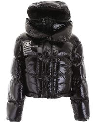 DSquared² Puffer Jacket With Vest - Black