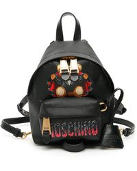 Moschino Bat Teddy Print Backpack - Black