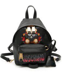 Moschino Bat Teddy Bear Backpack - Black