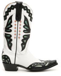 Jessie Western Butterfly Cowboy Boots - Black
