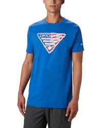 Columbia Luther Short Sleeve T-shirt - Blue