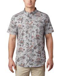 Columbia Rapid Rivers Printed Short-sleeve Shirt - Gray