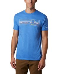 Columbia Conquer Short Sleeve T-shirt - Blue