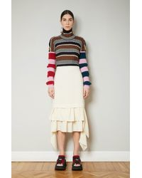 Colville Flared Front Skirt - Multicolour