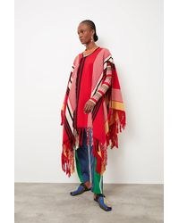 Colville Poncho - Red