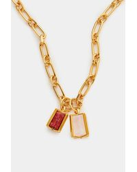 Colville Cage Double Necklace - Metallic