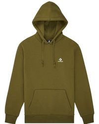 Converse Embroidered Pullover Hoodie - Verde