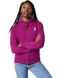 Converse Star Chevron Embroidered Full-Zip Hoodie - Multicolore
