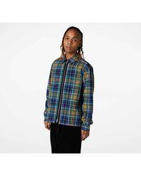 Converse Allover Print Utility Zip Front Shirt - Blue