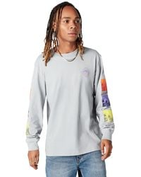 Converse Tryptich Long Sleeve Tee - Gray