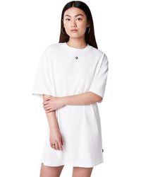 Converse Wordmark Oversized Tee Dress - Bianco