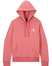 Converse Embroidered Star Chevron Pullover Hoodie - Rosa