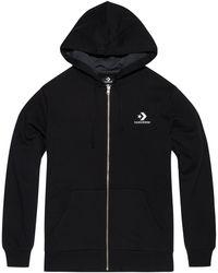 Converse Hoodie entièrement zippé Star Chevron Embroidered pour Homme - Noir
