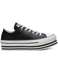 Converse - Chuck Taylor All Star Shiny Metal Lift Low Top - Lyst