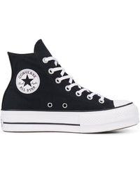 Converse Chuck Taylor All Star Canvas Platform High Top - Black