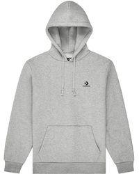 Converse Embroidered Pullover Hoodie - Grigio