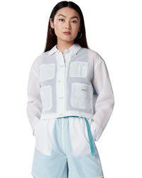 Converse Sheer Chore Coat - White