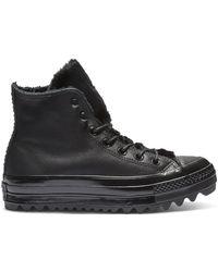 Converse Chuck Taylor All Star Street Warmer Ripple High Top - Black