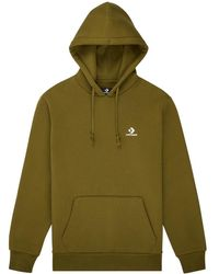 Converse Embroidered Pullover Hoodie - Vert