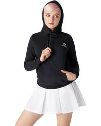 Converse Star Chevron Embroidered Pullover Hoodie - Nero