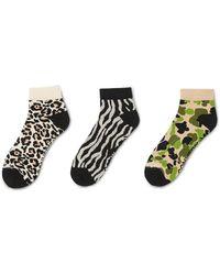 Converse Heritage Pattern Socks 3-pack - Black